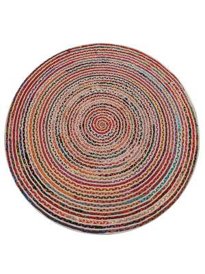 Handwoven Chindi Tribal Cotton Rug - 2017 - 160x160cm