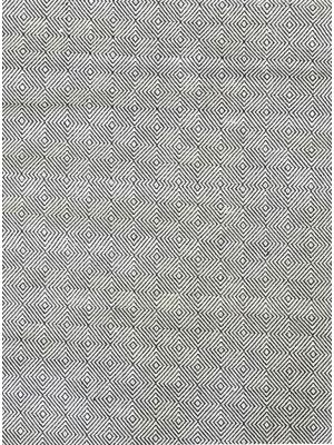 Trendy Cotton Rug - Diamond - Black/White - 110x160cm