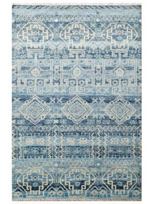 Noble Designer Handknotted Wool Rug - Lt. Blue - 253x299cm