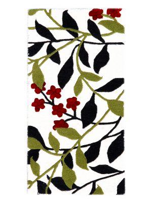Handmade Botanical Wool Rug - 5057 - Ivory - 60x120