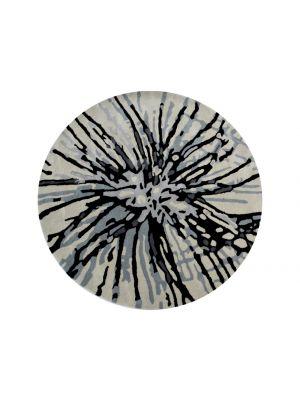 Designer Handmade Round Wool Rug - 5067 - Grey - 150x150