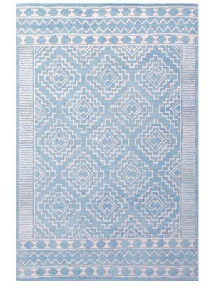 Modern Handmade Wool Rug - Cairo 6209Aqua - 110x160cm
