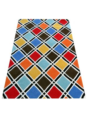 Designer Handmade Wool Rug - Texture2017 - Multi - 160x230cm