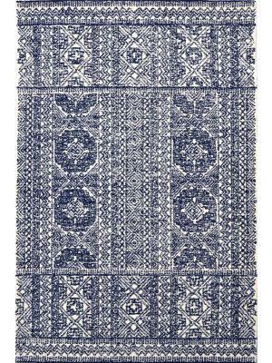 Imperial Handmade Wool Rug - 6210 - Navy/Cream - 190x280cm