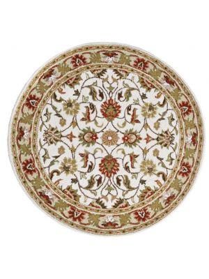 Beautiful Handmade Wool Rug - Kashan2 - Ivory/Cream - 160x160