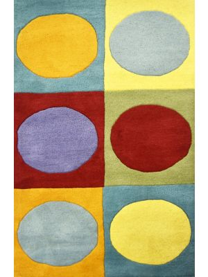 Handmade Kids Wool Rug - K109 - Multi - 80x150