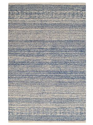 Designer Handmade Wool Rug - Newcastle 6201 - Denim - 110x160