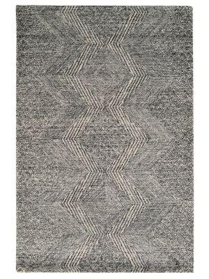 Designer Handmade Wool Rug - Newcastle 6202 - Charcoal - 110x160