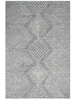 Newcastle - Modern Handmade Wool Rug - 6225 -  Charcoal/Ivory - 160x230cm