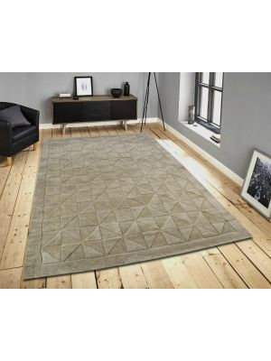 Contemporary Wool Rug - Triangle - Evening Haze - 110x160