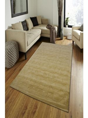 Contemporary Wool Rug - Triangle - Irish Cream - 110x160
