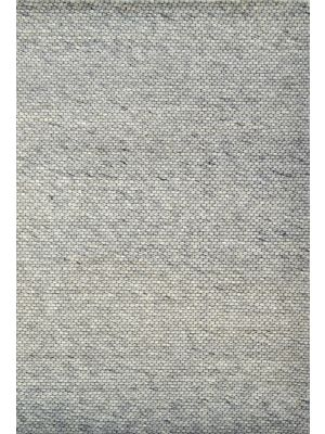 Hand Woven Wool Rug - Adelaide 505 - Silver - 110x160