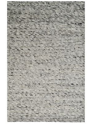 Designer Handwoven Beads Wool Rug - 6218 - Ash Grey - 110x160cm