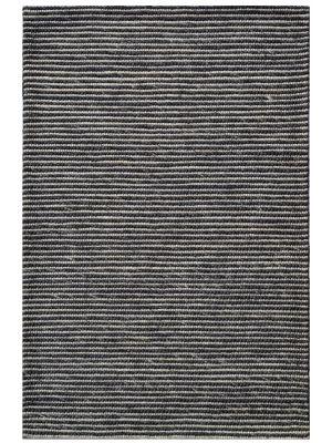 Designer Handwoven Beads Wool Rug - 6218 - Charcoal - 80x150cm