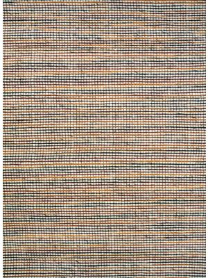 Berlin Flatwoven Modern Wool Rug - 507 - Natural/Red - 110x160