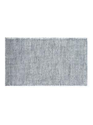 Handwoven Reversible Wool Rug - Boondi - Black/White - 80x150cm