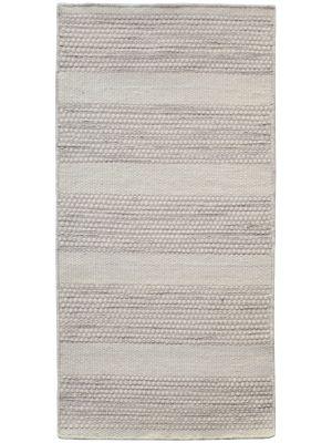Modern Handwoven Wool Rug - Dotts - Cream/Natural - 60x120cm