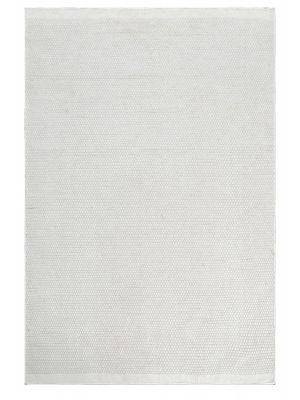 Handwoven Reversible Wool Rug - Boondi - Ivory - 190x280cm