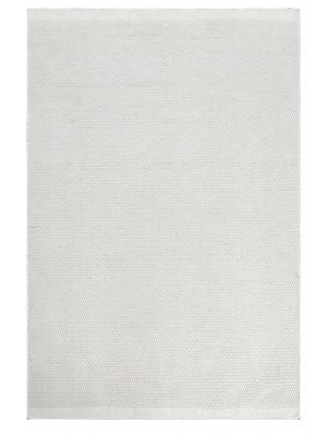 Handwoven Reversible Wool Rug - Boondi - Ivory - 80x150cm