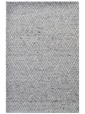 Modern Handwoven Wool Rug - Barfi 6220 - Ash Grey - 160x230cm