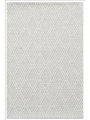 Modern Handwoven Wool Rug - Barfi 6220 - Ivory - 160x230cm