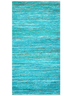 Trendy Saree Silk Rug - Chocho 1026A - Blue - 80x150cm