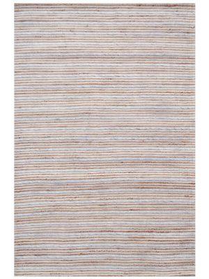 Handwoven Bright Wool & Jute Rug - M20038 - Natural/Grey - 190x280cm