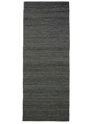 Fine Handwoven Wool Rug - Ridges - Charcoal - 80x300