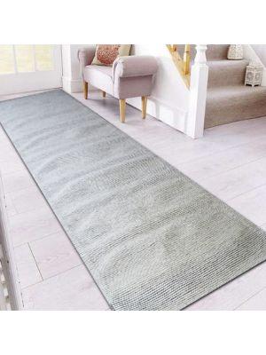 Fine Handwoven Wool Rug - Ridges - Ivory - 80x300