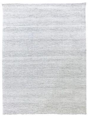 Fine Handwoven Wool Rug - Ridges - Ivory - 160x230