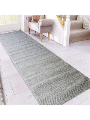 Fine Handwoven Wool Rug - Ridges - Sand - 80x300