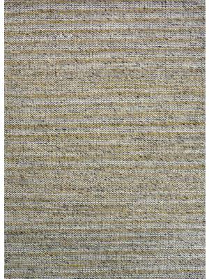 Sua - Flatwoven Modern Wool Rug - 506 - Gold/Charcoal - 190x280