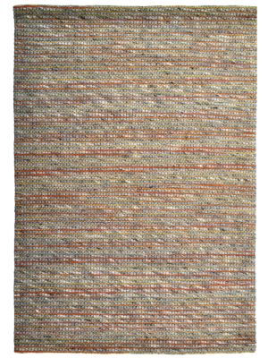 Sua - Flatwoven Modern Wool Rug - 506 - Orange/Charcoal - 110x160