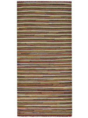 Vibrant Flatwoven Sweden Wool Rug - 6206B - Multi - 80x150cm