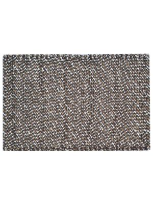 Handwoven Felted Wool Rug - Jelly Bean - Brown - 80x150