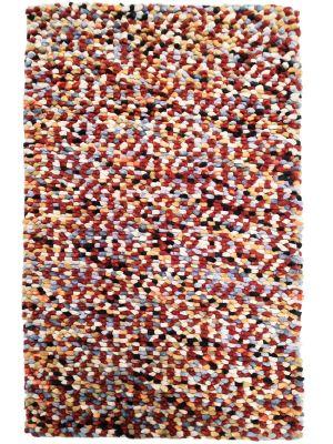 Handwoven Trendy Wool Rug - Jelly Bean - Multi - 80X150cm