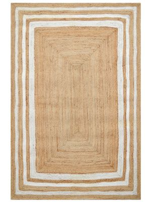 Handwoven Natural Jute Rug - Mauji 1089 - Natural/Ivory - 190x280cm