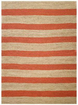 Natural Handmade Jute Rug-Kerla 1020-Natural/Orange-160x230
