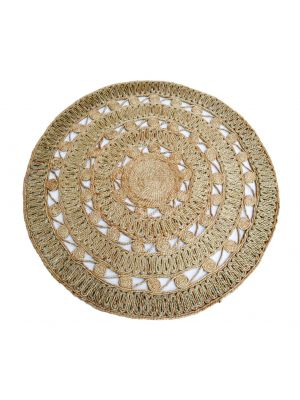 Tribal Round Jute Rug - 1049 - Natural - 120x120cm