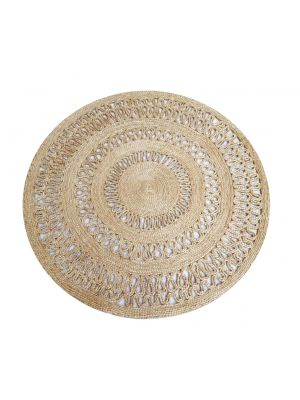 Tribal Round Jute Rug - 1069 - Natural - 120x120cm