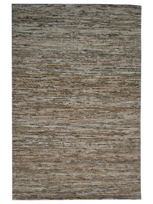 Trendy Hand Woven Jute & Silk Rug - Stripe 6001 - Natural/Black - 80x150cm