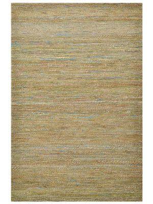 Trendy Handwoven Jute & Sari Silk Rug - 6001 - Natural/Green - 160x230cm