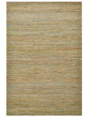 Trendy Handwoven Jute & Sari Silk Rug - 6001 - Natural/Green - 80x150cm