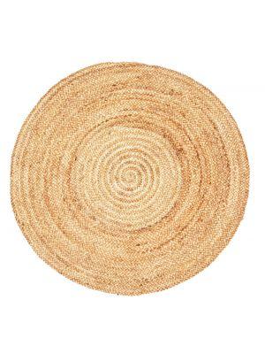 Handmade Round Jute Rug - Plain - Natural - 160x160