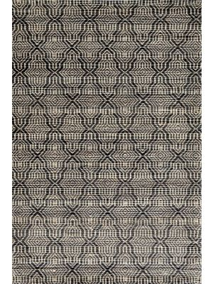Mirage Handwoven Wool & Jute Rug - Natural/Black - 190x280cm