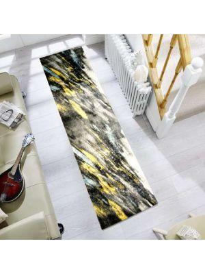 Modern Quality Luminous Rug-650-Dk Grey/Antracite-80x300cm