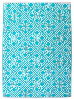 Vibrant & Reversible Outdoor/Indoor Mats - Chatai-2398-Auqa - 120x170