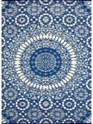 Reversible Indoor/Outdoor Mats - Chatai 2773 - Blue/White-150x240
