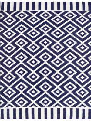 Reversible Indoor/Outdoor Mats - Chatai A002 - Navy/White-120x170