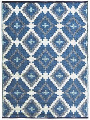 Reversible Indoor/Outdoor Mats - Chatai-ARC005-Blue Multi-120x170